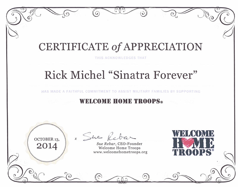 Welcome Home Troops Testimonial